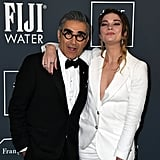 Eugene Levy and Annie Murphy at the 2020 Critics' Choice Awards