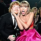 Pictured: Taylor Swift and Ed Sheeran