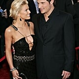 Jessica smiled up at her husband during the American Music Awards in November 2004.