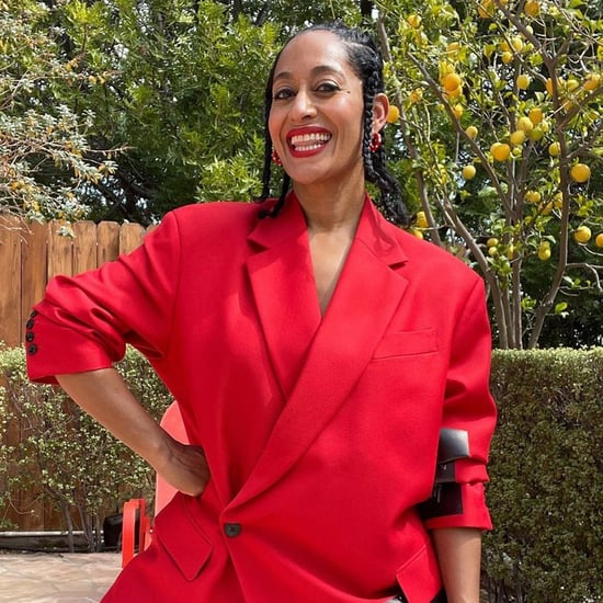 Tracee Ellis Ross Wears Red Power Suit on The Tonight Show