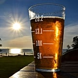 Runner's Measurements Engraved Beer Pint Glass