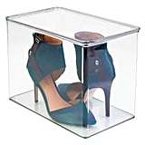 mDesign Closet Storage Organizer Shoe Box