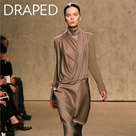 Why we love them: Draping is a girl's best friend. With draping in all the right places, you can accentuate the curves you love (and hide the ones you don't). They're feminine in a totally modern way, and they're all-occasion, all-age appropriate. How to wear them: Look for draping that doesn't reveal too much up top or bottom, if you're planning to outfit the style for work or daytime. If you're donning the dress after hours, by all means, look to sexy, more revealing draping (be it in a low-cut front or back) and finish with your favorite heels. In this photo: Doo.ri Fall 2012