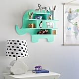Drew Barrymore Flower Kids Mint Chip Elephant Wall Shelf