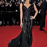 Cassie went with a darker kind of glam at the Killing Them Softly premiere.