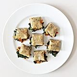 Thursday: Mochi Squares Stuffed With Sesame Greens