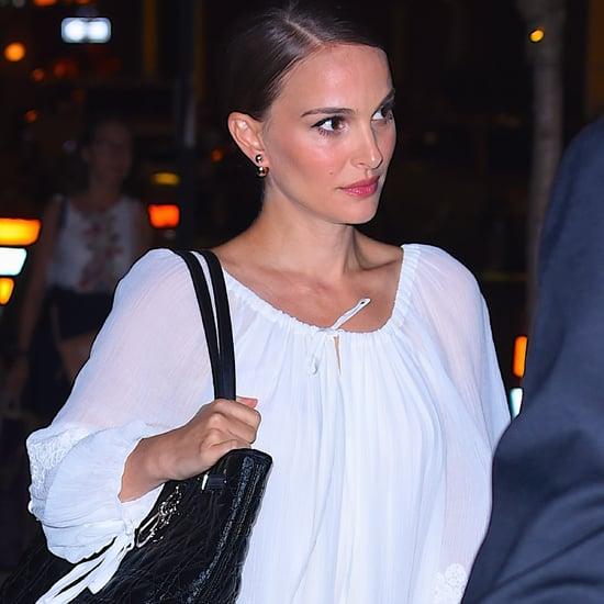Natalie Portman White Dress in New York City August 2016