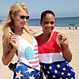 Fast friends! Christina Milian met up with Paris Hilton in Malibu. Source: Instagram user christinamilian