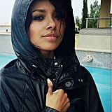 Kat Graham was ready for a rainstorm. Source: Instagram user katgrahampics