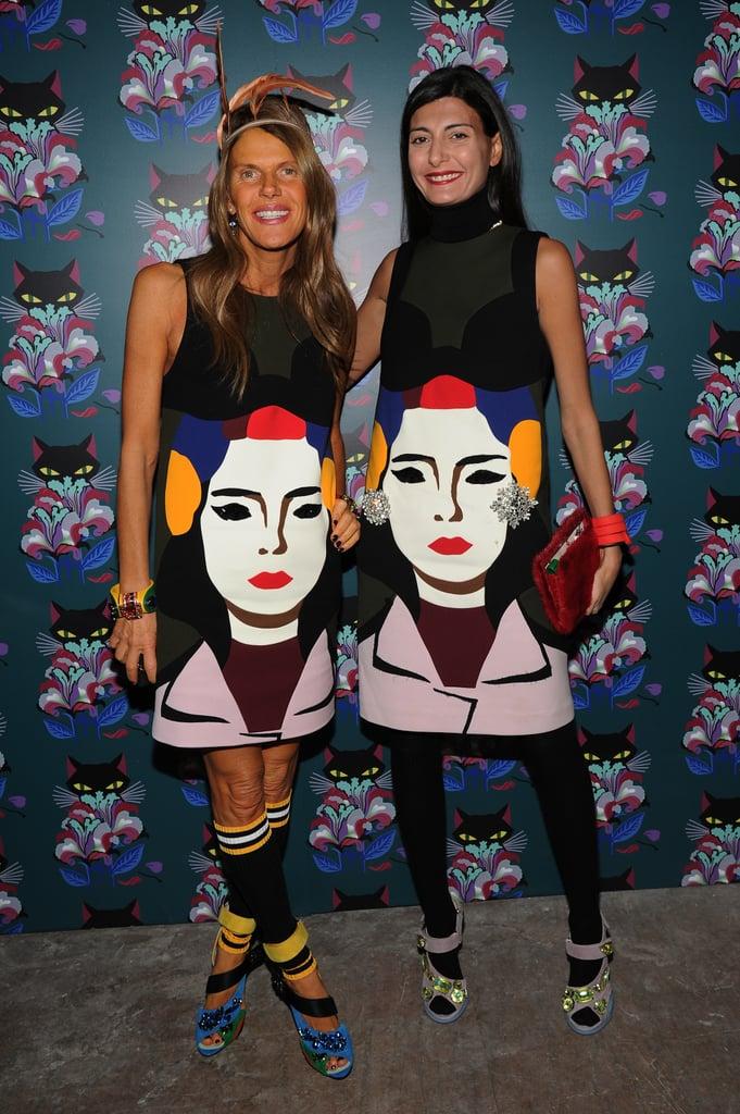 Anna Dello Russo and Giovanna Battaglia in Prada