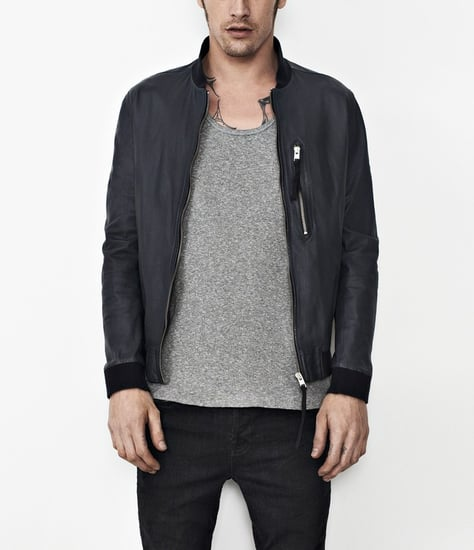 Hakonie Leather Bomber Jacket