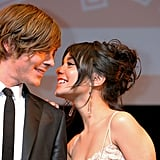 Vanessa leaned into Zac at the Tokyo premiere of High School Musical 3 in January 2009.
