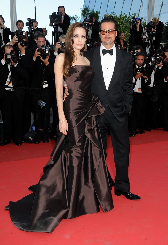 Brad Pitt and Angelina Jolie Pictures at The Tree of Life Cannes Premiere