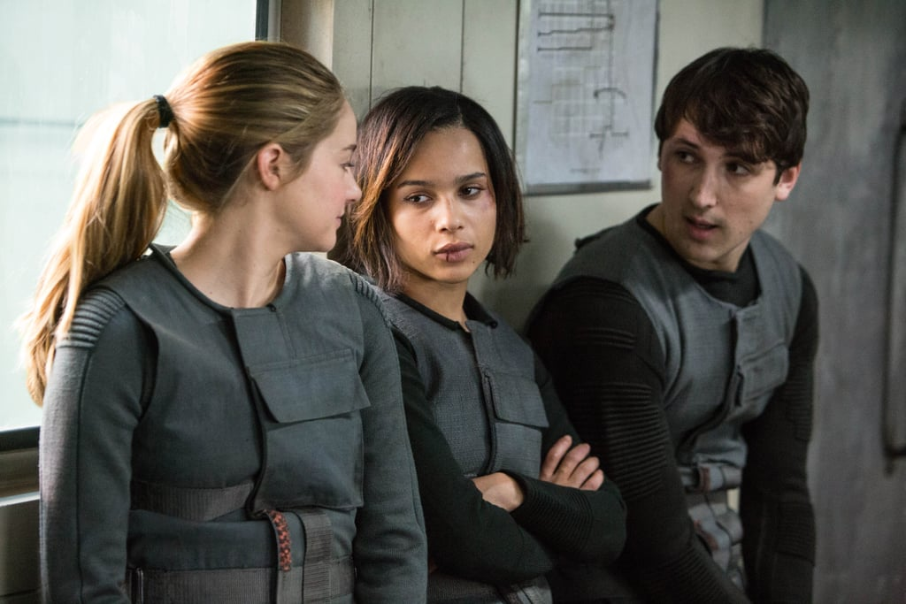 Tris's best friends in Dauntless are Christina and Will, played by Zoe Kravitz and Ben Lloyd-Hughes.