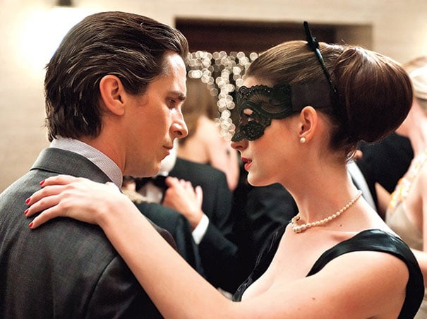 Christian Bale and Anne Hathaway in The Dark Knight Rises.