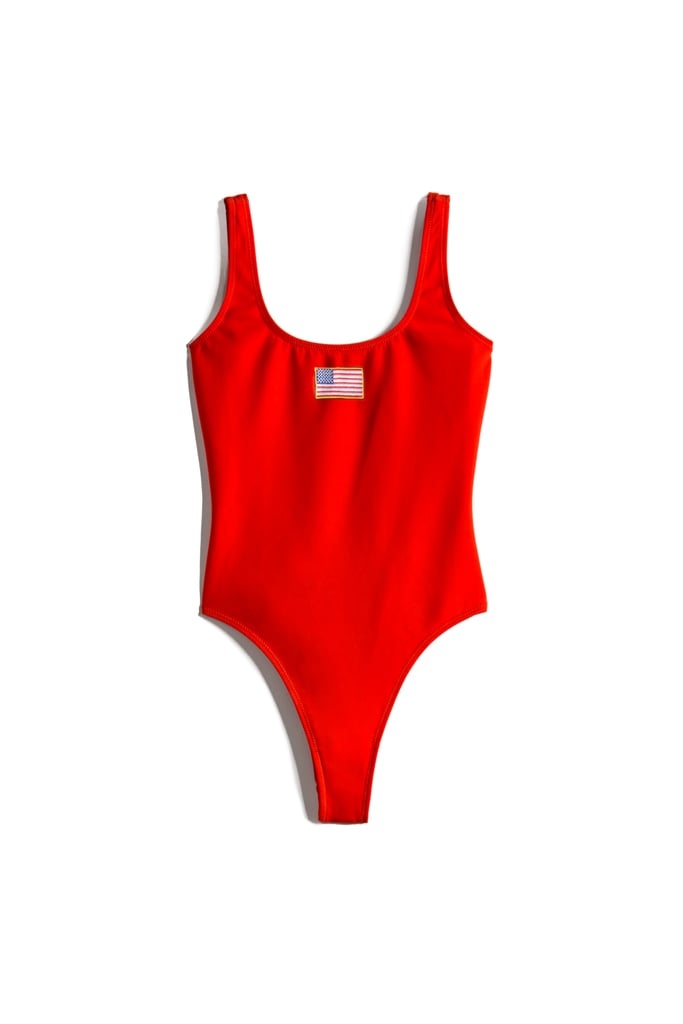 Bright Red USA One-Piece