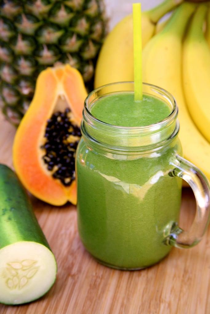 Debloating Pineapple Papaya Smoothie