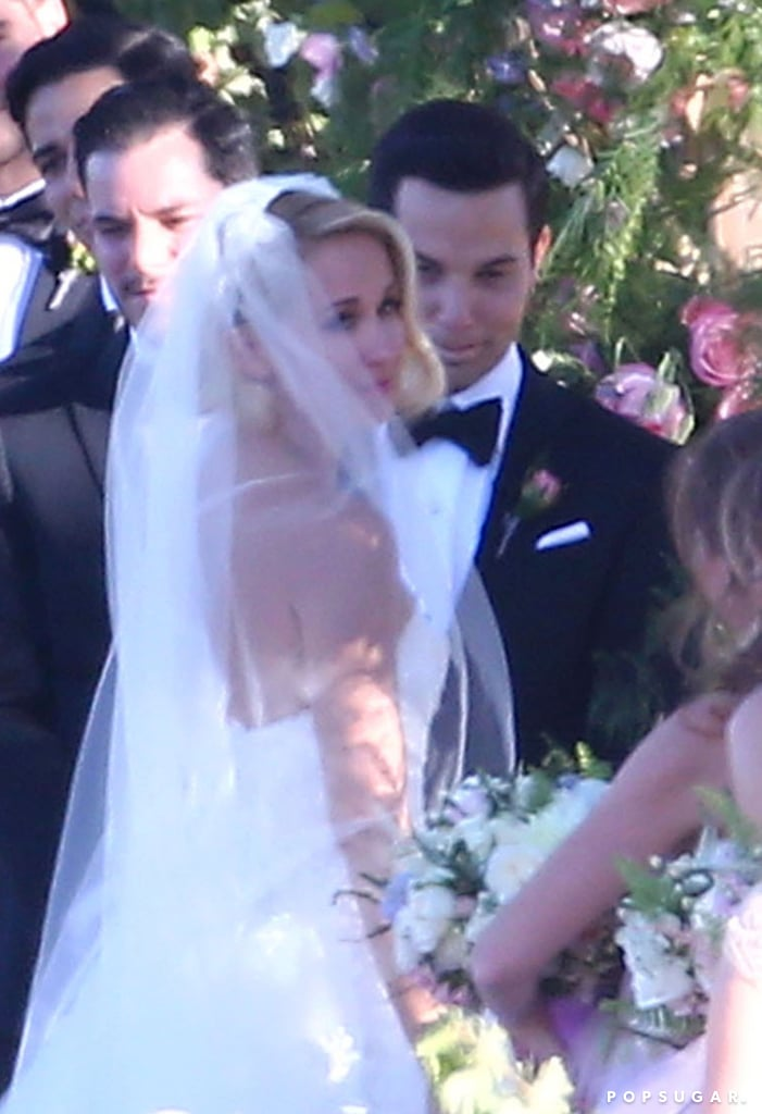 Anna Camp and Skylar Astin tied the knot in a gorgeous outdoor ceremony at a winery in Santa Ynez, CA on Saturday. The Pitch Perfect actress looked ethereal in a white strapless dress, while Skylar made quite the dapper appearance in Ermenegildo Zegna. The nuptials reportedly featured lots of pink, and Brittany Snow served as a bridesmaid. Elizabeth Banks and Rebel Wilson were also among the guests, and both took to Instagram to share their excitement over the couple's big day. Ben Platt, who played Skylar's roommate in Pitch Perfect, appeared to serve as a groomsman as well. Anna and Skylar first began dating in 2013, and the actor popped the question over the New Year's holiday in 2016. Just last month, the pair celebrated their final days of being single with a joint country-themed bachelor and bachelorette party. Congrats to the newlyweds!       Related:                                                                Skylar Astin Reveals the Moment He Knew He Wanted to Marry Fiancée Anna Camp                                                                   Anna Camp Reveals the Supersweet Reason Skylar Astin Is the Perfect Match For Her                                                                   40 Engaged Celebrity Couples We Can't Wait to See Tie the Knot