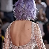 Katy Perry's Lavender Lob From the Back