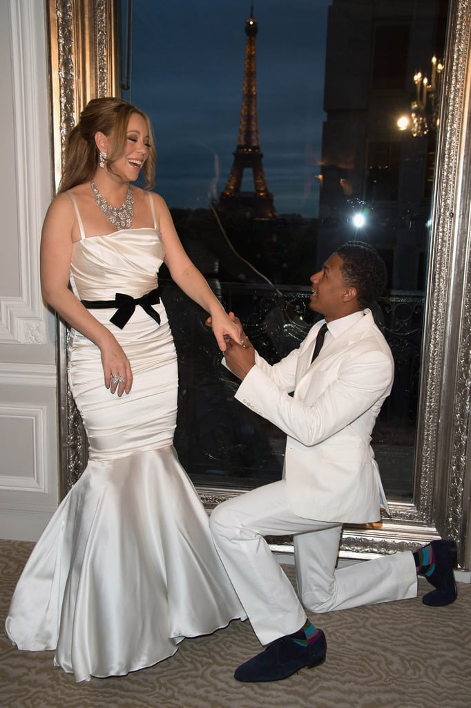 Mariah Carey and Nick Cannon renewed their wedding vows on their fourth wedding anniversary in Paris in April 2012.