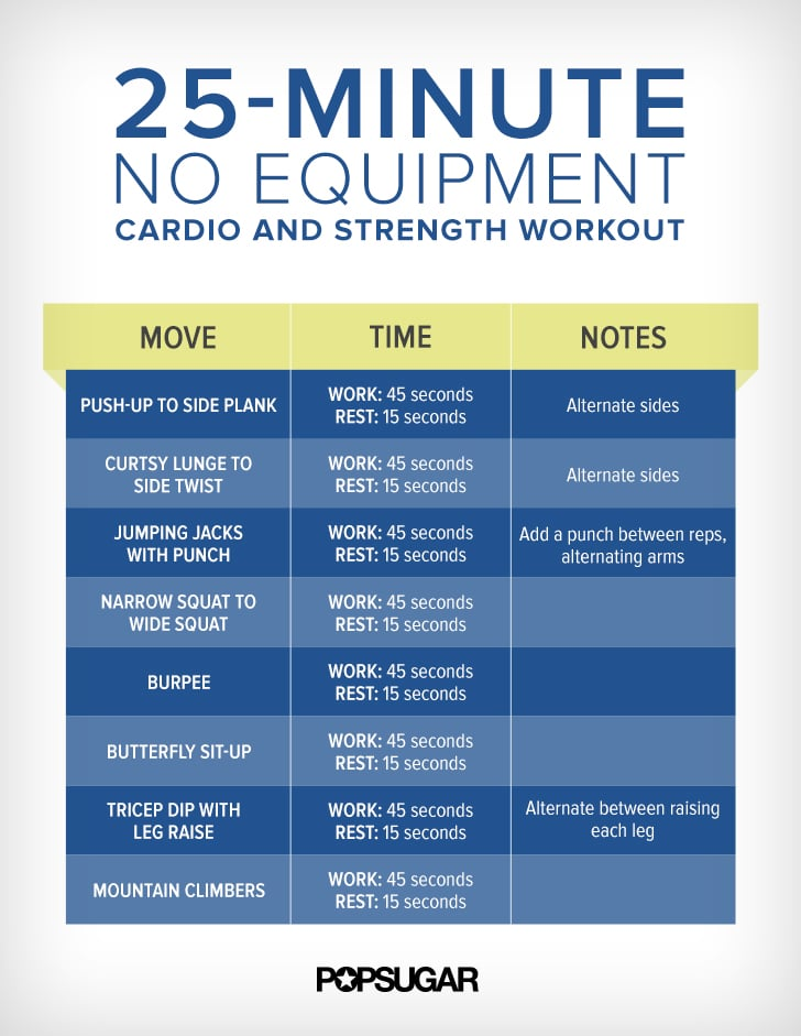 25 Minute Cardio And Strength Training Circuit Workout