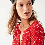 Urban Outfitters Faux Leather Beret