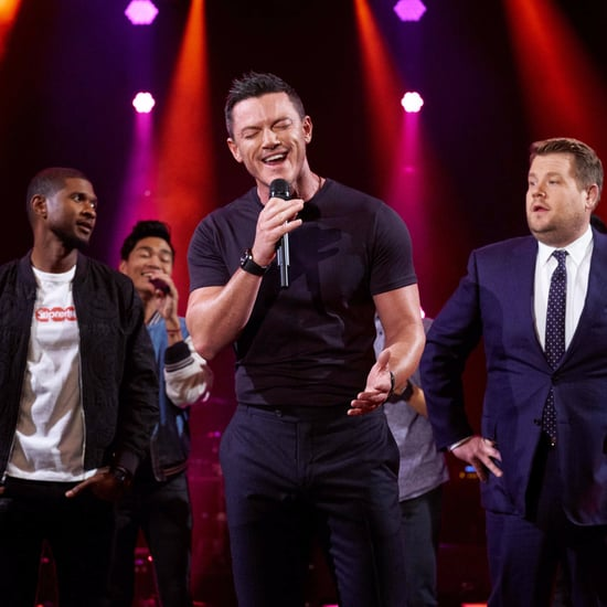 Luke Evans, Usher, and James Corden Riff-Off Video