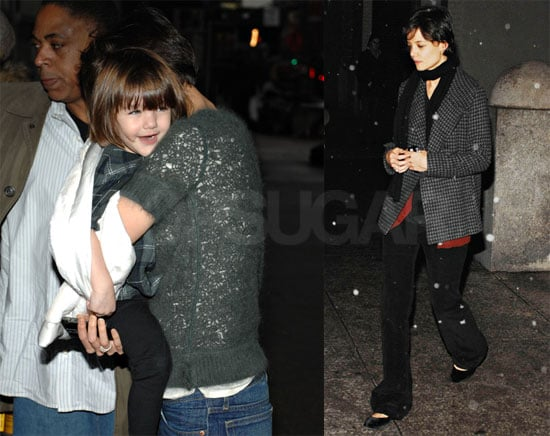 Photos of Katie Holmes and Suri Cruise in New York City with First Snow
