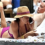 Brooke Burke lounged by a pool in Miami.