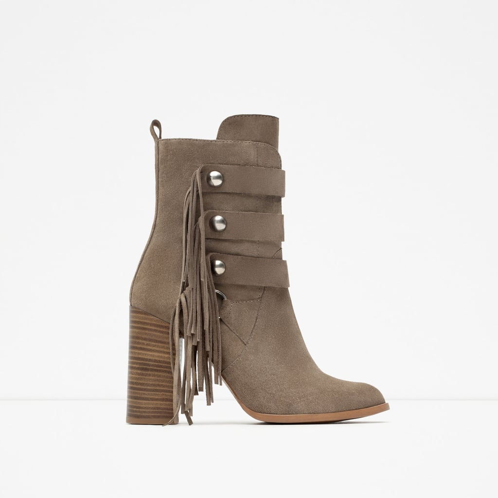 Zara High Heel Fringe Boot ($119)