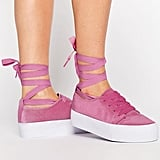 Wrap the ties on Asos's Denver Velvet Sneaker ($38) up and around your ankles.