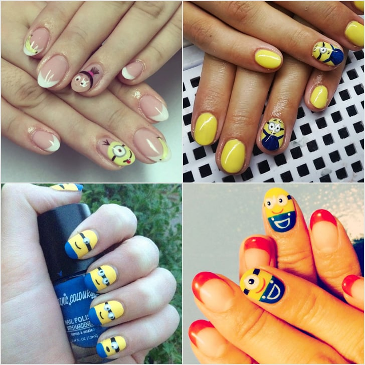 Minion nail art ideas popsugar beauty 20 minion nail art ideas that will make you go bananas prinsesfo Images