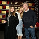 Blake Lively put her arms around her parents in NYC at a Godiva event.