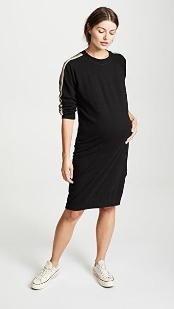 a899c9bc874ff Monrow Maternity Sweatshirt Dress | Best Fall Maternity Dresses ...