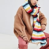 ASOS Design Rainbow Long Woven Scarf