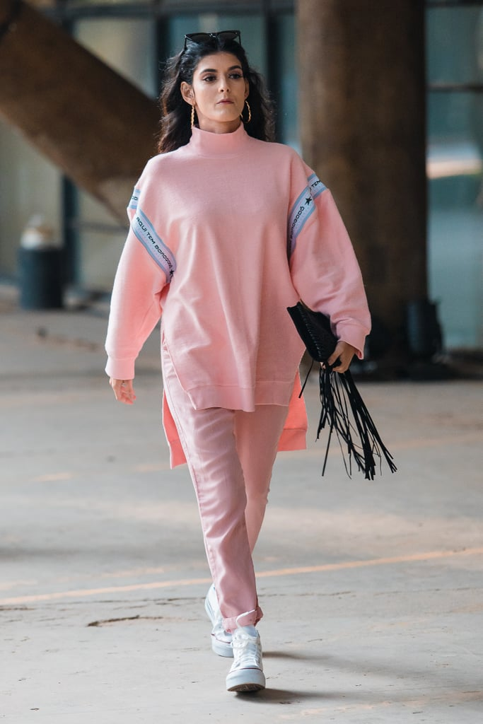 6d5b6f04c0 Style Them With a Light Pink Sweater and Silk Trousers