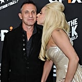 Lady Gaga kissed Arthur Fogel at his Epix party.