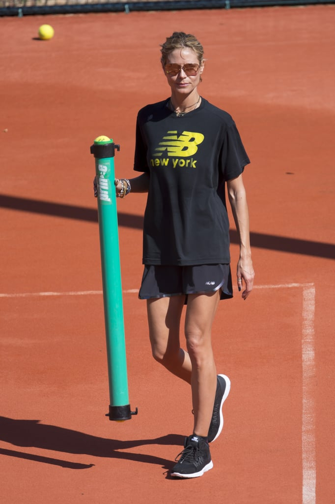 Heidi Klum Playing Tennis