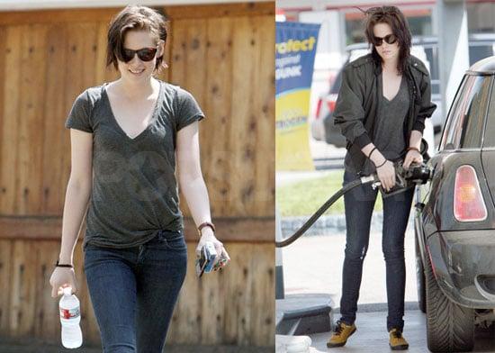 Photos of Kristen Stewart Getting Gas in LA