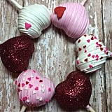 Gold Shimmer Heart Cake Pops