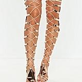 Missguided High Leg Heeled Gladiator Sandals