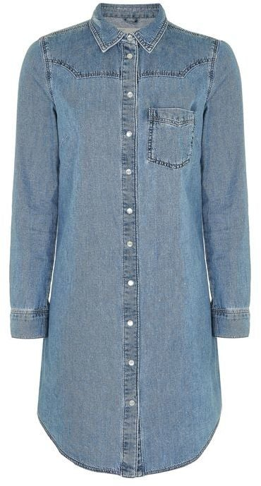 When you want to wear your denim shirt but it's in the wash, opt for a fitted denim dress ($85) instead.