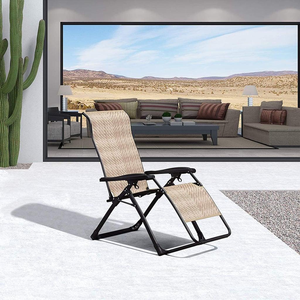 Purple Leaf Outdoor Zero Gravity Recliner Chair