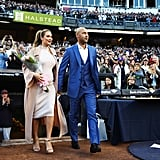 Derek and Hannah Jeter at Yankee Stadium Ceremony May 2017