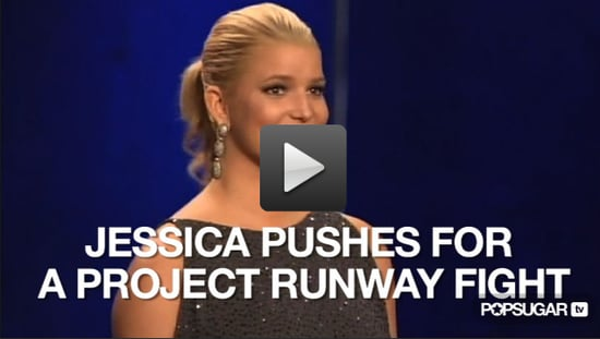 Video of Jessica Simpson on Project Runway Season Eight Finale