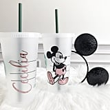 Mickey Mouse Personalized Iced Coffee Cup