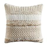 Farmhouse Stripe Square Natural Pillow