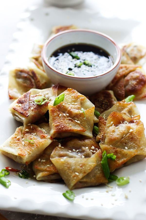 Easy Asian Dumplings With Hoisin Dipping Sauce