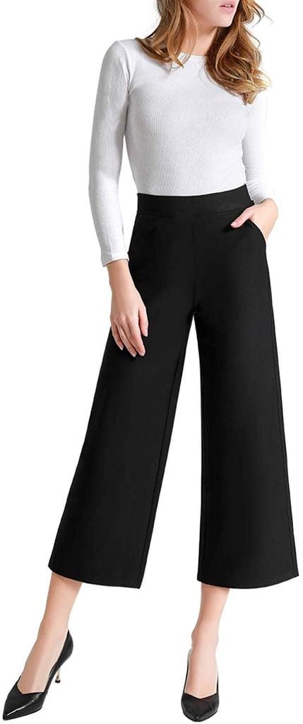 Tsful Women's Casual Loose Wide-Leg Pants