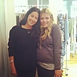 Rebecca Minkoff welcomed a pregnant Busy Philipps to her NYC showroom. Source: Instagram user rebeccaminkoff